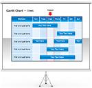 Gráficos de Gantt Gráficos e diagramas para o PowerPoint