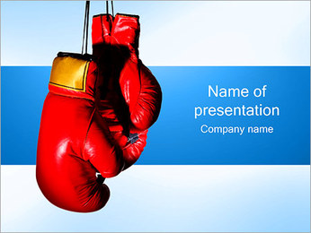 Boxing Gloves PowerPoint Template