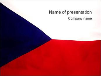 Czech Flag PowerPoint Template