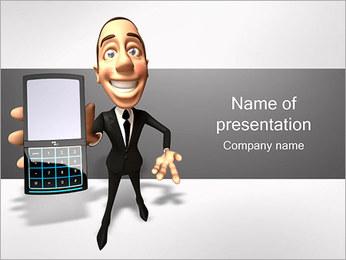 Homem com telefone Modelos de apresentações PowerPoint