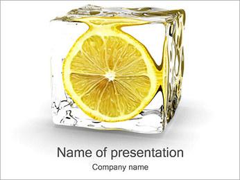 Lemon in Ice PowerPoint Template