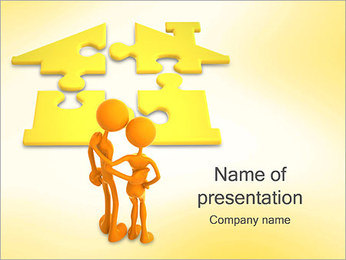 Couple and House PowerPoint Template