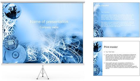 Circuit et Globe Modèles des présentations  PowerPoint
