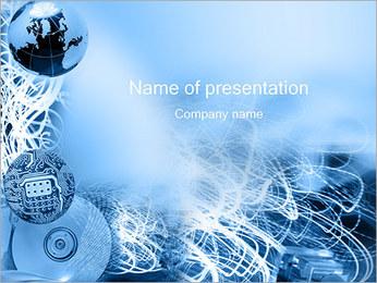 Circuit et Globe Modèles des présentations  PowerPoint - Diapositives 1