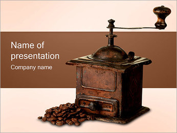 Old Coffee Grinder PowerPoint Template