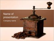 Old Coffee Grinder PowerPoint Templates
