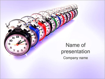 Old Clocks PowerPoint Template