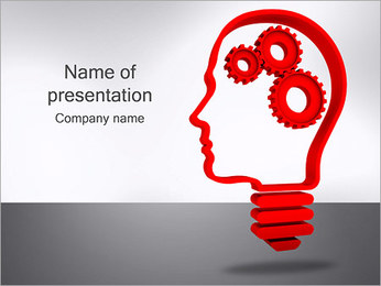 Gear in Head PowerPoint Template