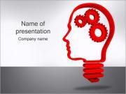 Gear in Head PowerPoint Templates