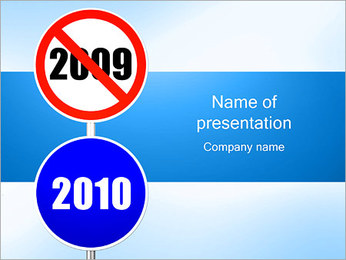 Road Signs 2009 and 2010 PowerPoint Template