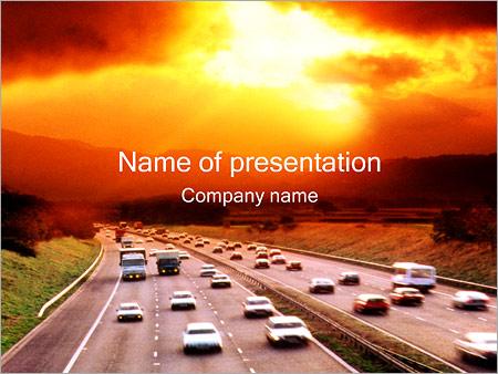 Trafic de voitures Modèles des présentations  PowerPoint