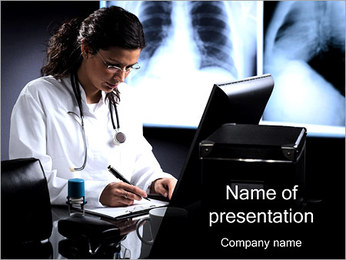Doctor Working PowerPoint Template