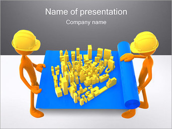 Workers with Project PowerPoint Template