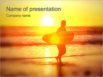 Surfer Silhouette PowerPoint Template