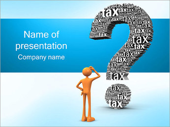 Tax Question PowerPoint Template