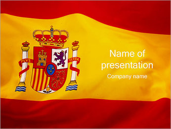 Spain Flag PowerPoint Template
