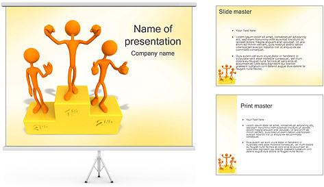Vencedores no Pedestal Modelos de apresentações PowerPoint