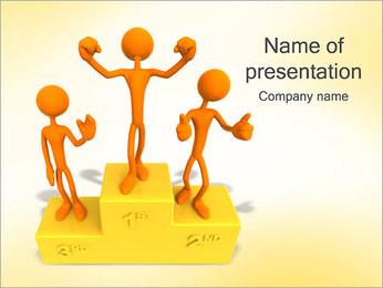 Vencedores no Pedestal Modelos de apresentações PowerPoint - Slide 1