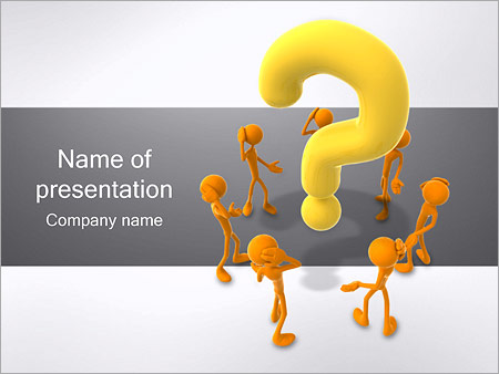 General Question Powerpoint Template Backgrounds Google Slides