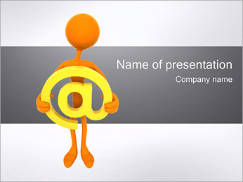 Man with email PowerPoint Template