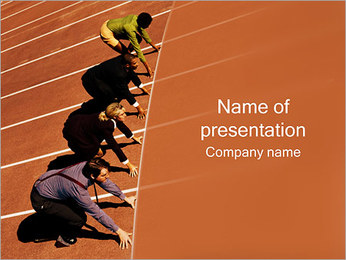 Businesspeople Competition PowerPoint Template