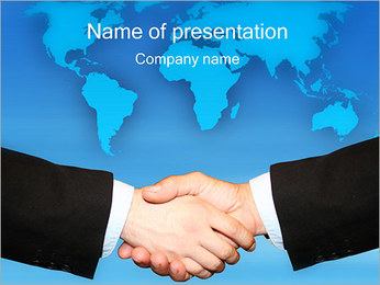 Agreement Handshake PowerPoint Template