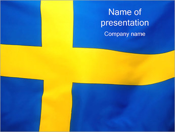 Flag of Sweden PowerPoint Template