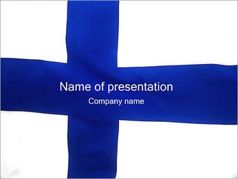 Finland Flag PowerPoint Template