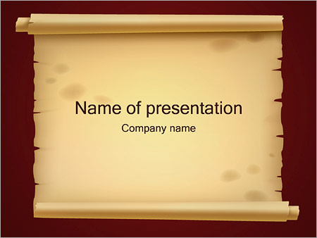 Old Paper PowerPoint Template