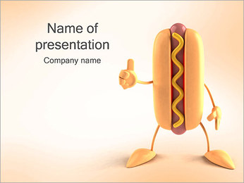 Hot Dog PowerPoint Templates - Slide 1