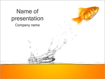 Goldfish Jumping PowerPoint Template