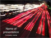 Night City Traffic PowerPoint Templates