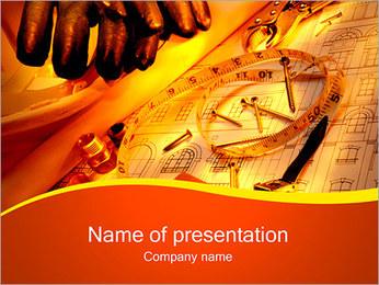 Edifício Concept Modelos de apresentações PowerPoint - Slide 1