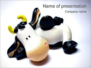 Cow Souvenir PowerPoint Template