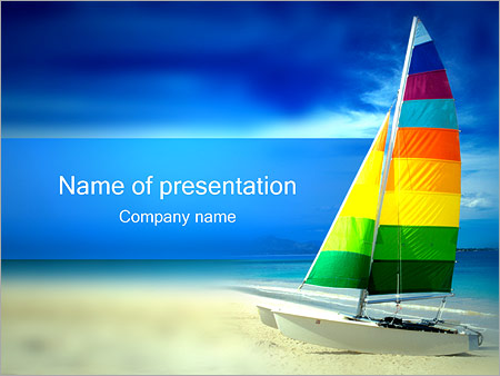 Sailing boat on beach powerpoint template backgrounds id sailing boat on beach powerpoint templates toneelgroepblik Choice Image