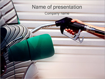 Filling Car Petrol PowerPoint Template