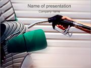 Filling Car Petrol PowerPoint Templates