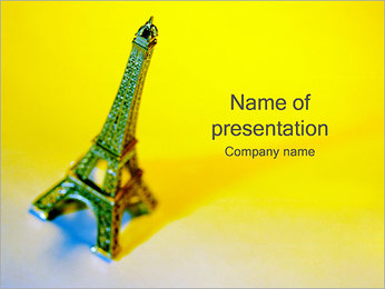 Eiffel Tower Figurine PowerPoint Template