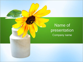 Daisy in Vase PowerPoint Template