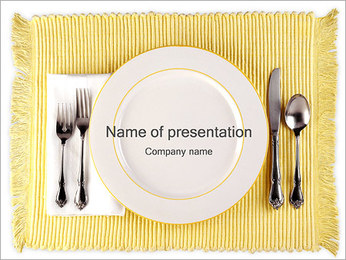 Cutlery Dinner PowerPoint Template