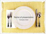 Cutlery Dinner PowerPoint Templates