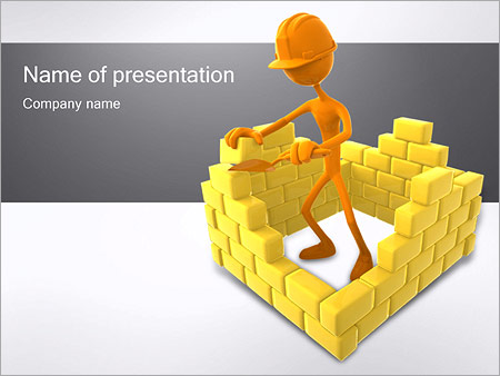 3d construction powerpoint template backgrounds id 0000001627 3d construction powerpoint templates toneelgroepblik Gallery