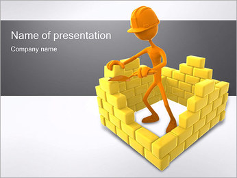 3D Construction PowerPoint Template