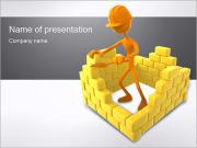 3D Konstruktion PowerPoint presentationsmallar