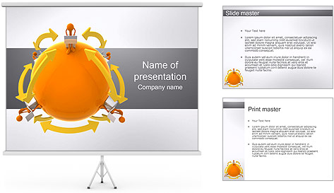 Global Communications Plantillas de Presentaciones PowerPoint