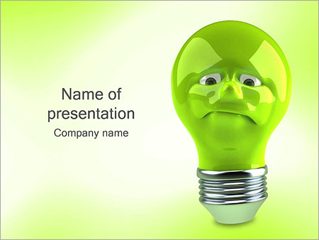 Green Lamp PowerPoint Templates