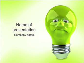 Green Lamp PowerPoint Template - Slide 1