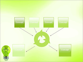 Green Lamp PowerPoint Template - Slide 10
