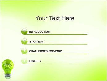 Green Lamp PowerPoint Template - Slide 3