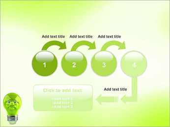 Green Lamp PowerPoint Template - Slide 4